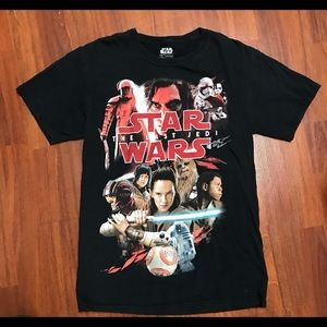 Star Wars the Last Jedi small t-Shirt black